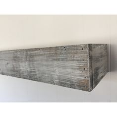 Essex Hand Crafted Wood Products Floating Shelf in Shabby White Solid Wood Handmade Rustic Style Shelf