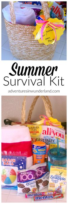 summer survival kit – the perfect end of the year teacher gift! summer survival kit – the perfect end of the year teacher gift! Survival Kit For Teachers, Teacher Survival, Survival Skills, Summer Fun For Kids, Happy Summer, Diy For Kids, Summer Ideas, Summer 2016, Summer Time
