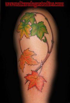 maple leaf tattoo half sleeve   Flickr - Photo Sharing!