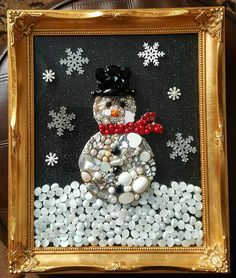 My latest jewellery picture ... a snowman ❤