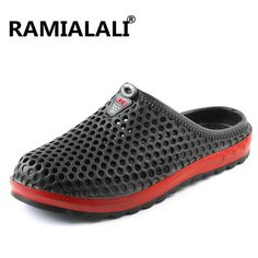 Summer Men Casual Soft Sport Shoes Hollow Sandals Surf Beach Breathable Slippers
