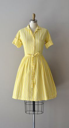 Bright Eyes dress / shirtwaist 50s dress / 1950s by DearGolden