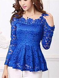 Blue Lace Top--