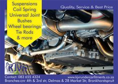 We repair and supply suspension parts at our Delmas and Bronkhorstspruit branches. Give us a call or visit us. Universal Joint, Master Chief, Branches, Offroad, Marketing, Off Road