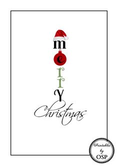 Merry Christmas Free Printable Lots of cute printables on this site!