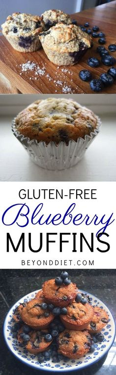 There's nothing like a warm blueberry muffin straight from the oven. Whip up one of these gluten-free blueberry muffin recipes for a delicious (but still healthy) treat! Muffin Recipes, Breakfast Recipes, Dessert Recipes, Diet Breakfast, Gluten Free Blueberry Muffins, Blue Berry Muffins, Gluten Free Recipes, Healthy Recipes, Healthy Foods
