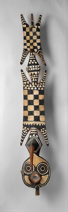 19th–20th century, Bwa peoples,  Burkina Faso, Black Volta River region. Medium: Wood, pigment, fiber Dimensions: H. 72 x W....