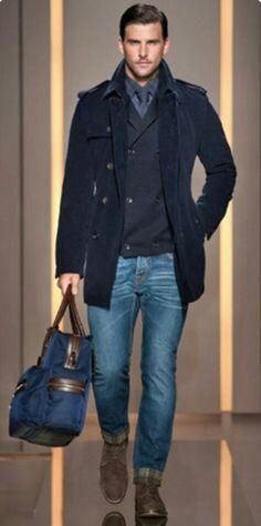 Black coat☆Jeans Menswear