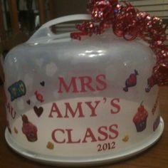Cake plate for teacher