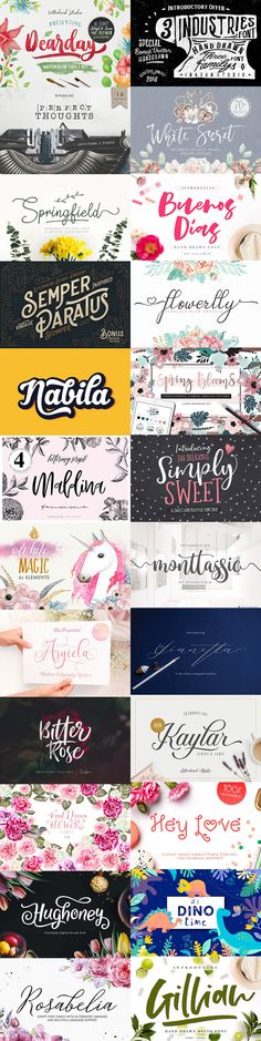 The Fabulous #February #Bundle #fonts #graphics, #illustrations