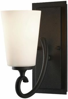 "Amazon.com: Murray Feiss VS16501 Peyton 1 Light Bathroom Sconce, Black: Home Improvement 10""h  $73"