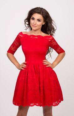 4b54daad53 Sukienkowo.pl - CARMEN - sukienka bez ramion czerwona