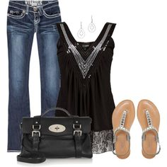 Silver Sandals, created by cnh92 on Polyvore