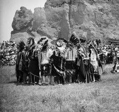 Ute Men during a round dance in 1911 - in the Garden of the Gods! This was their place!!!