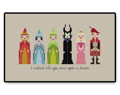 This Sleeping Beauty lineup. | 21 Cross Stitch Patterns Every Disney Fan Will Want To Try