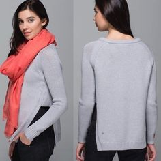 "Lululemon Yun to you Sweater light gray These are sold out everywhere! Brand new with tags. Please use ""offer"" button to make any offers. TRADES WILL BE IGNORED. lululemon athletica Sweaters Crew & Scoop Necks"