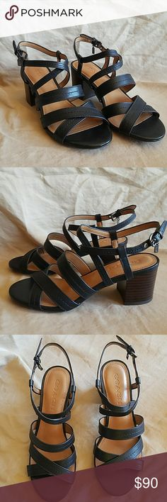 Coach black terri semi matte calf heels 6M Coach black terri semi matte calf heels 6M New in box. Coach Shoes Heels