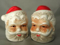 Brinns Santa Salt and Pepper Set by LilliaMeadow on Etsy