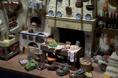 French kitchen  At the Miniature Museum in Lyon