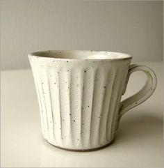 陶器のコーヒーカップ/マグカップ 粉引きマグ(4)