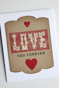 Love You Forever Card by Heather Nichols for Papertrey Ink (December 2014)