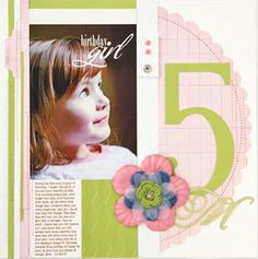 Scrapbook Page - Birthday Age