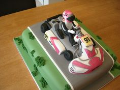 Go Kart Cake Some Of The Go Kart Is Made Out Of Cake The Rest Of It Is Fondant Go-kart cake - some of the go-kart is made out of cake the...