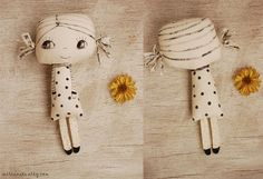 Painted fabric doll handmade doll soft doll by mirianata on Etsy
