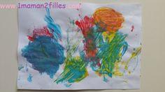 1maman2filles activité peinture aux déodorants