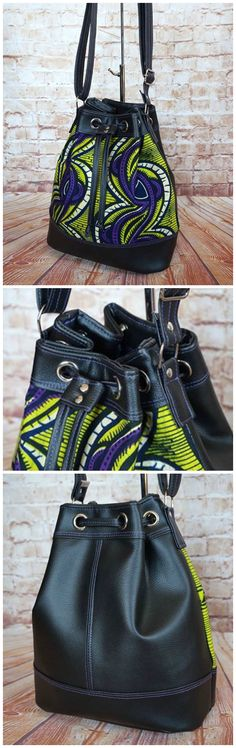 Amazing purse sewing pattern.  Based on the Bonnie, this bag has grommets added around the top and a drawstring.  It's amazing and I need to make this very, very soon! Photos by Charlotte Salvi-Ganichaud
