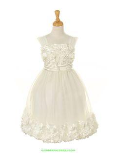 Ivory Rosette Bodice Girl Dress