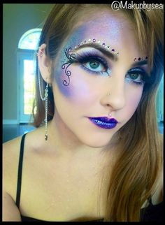 Fairy makeup. - I am the blue fairy to Caleb's Pinocchio