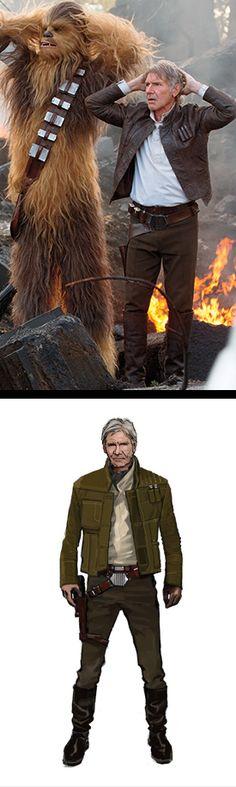 "Harrison Ford as Han Solo in ""Star Wars: The Force Awakens"" (2016). Costume Designer: Michael Kaplan"