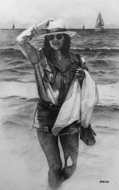 Girl at the Beach by AATheOne.deviantart.com on @DeviantArt