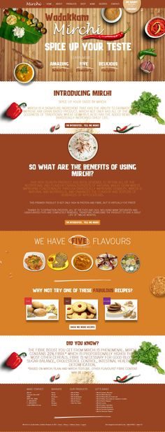 Indian Food restaurant site design