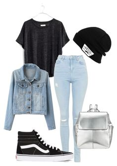 """""""Untitled #19"""" by nayalexanderxo ❤ liked on Polyvore featuring Madewell, Topshop, Vans and Kin by John Lewis"""
