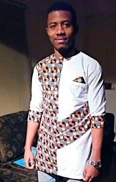 Kitenge Designs for See Over 150 Kitenge Design Photos African Shirts Designs, African Shirts For Men, African Dresses For Kids, African Clothing For Men, African Wear, African Attire, Nigerian Men Fashion, African Print Fashion, Africa Fashion