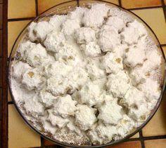 Κουραμπιέδες τριφτοί και αρωματικοί Συνταγη απο τα ζαχαροπλαστεια DESPINA Υλικά 500γρ βουτυρο γαλακτος 130γρ ζαχαρη αχνη 1 βανιλια 15γρ κονιακ 1/2 κγλ κοφτο μπεικιν παουντερ 1 κιλο αλευρι κοσκινισμενο 250γρ αμυγδαλα χοντροτριμμενα Εκτέλεση Χτυπαμε το βουτυρο με την ζαχαρη αχνη και τη βανιλια για 15′ στο μιξερ. Επειτα προσθετουμε το αλευρι,το μπεικιν και το κονιακ … Dairy, Sweets, Cheese, Food, Gummi Candy, Candy, Goodies, Treats, Meals