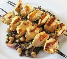 Mustard Grilled Chicken Kebabs recipe