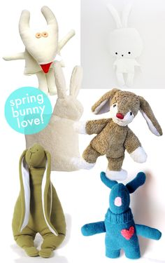 Best Modern Stuffed Bunny Toys for Easter and Spring! SmallforBig.com #easter #toys