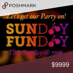 🖤I'm co-hosting another party!🖤 🖤Let's get our party on this Sunday!!🖤  I'm co-hosting the Sunday Funday party this Sunday at 7pm and I'm looking for Host Picks!!   If you have a Poshmark compliant closet, feel free to Direct Share 3 of your favorite items to me and I'll check them out!!   No more than 3 items please since my notifications will already be insane! :)  🖤Can't wait until Sunday!🖤 Sunday Funday Dresses