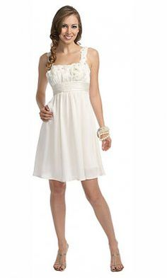 A-line Chiffon Knee Length Homecoming Dress