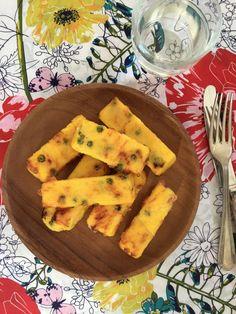Baked cheesy polenta fingers #BLW #glutenfree #babyledweaning - emerald + ella blog