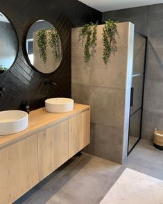 Beautiful bathrooms, with footed baths, cladded walls and colour that is muted - home decor inspiration. Bad Inspiration, Bathroom Inspiration, Modern Bathroom Design, Bathroom Interior Design, Bathroom Designs, Bathroom Goals, Small Bathroom, White Bathrooms, Bathroom Black