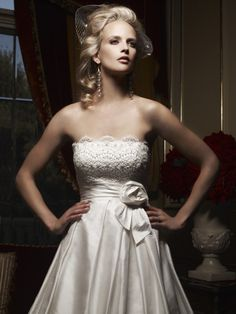 White Rose Bridal  Casablanca Bridal - Silk Shantung gown with beaded lace  embellished with Swarovski Crystals and crystal sequins. Neckline is  straight ... 3afb84c1a20f