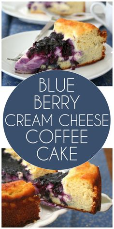Low carb grain-free Blueberry Cream Cheese Coffee Cake