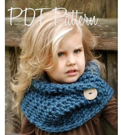 Crochet PATTERNThe Tuscyn Cowl Child Adult sizes by Thevelvetacorn, $5.50