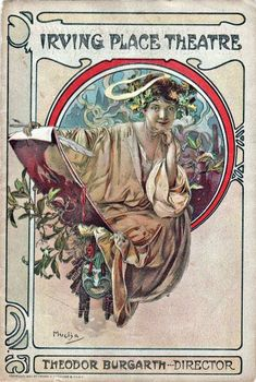 1910 Programme cover for the Irving Palace Theatre - Mucha