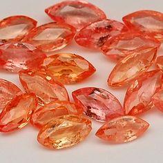 Marquee cut faceted gemstones