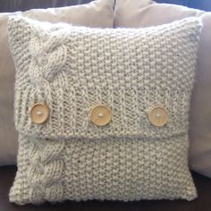 PDF KNITTING PATTERN - Braided Cable chunky hand knit 16 x 16 pillow cover